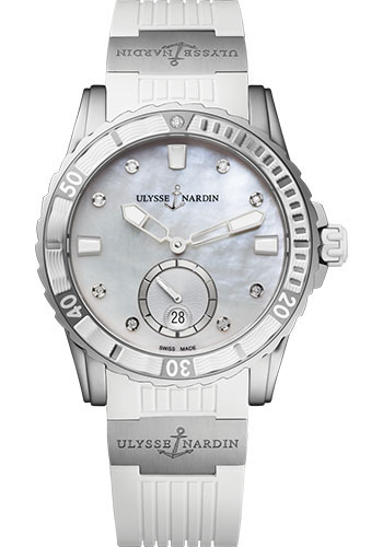 Ulysse Nardin Watches - Diver Lady 40mm - Stainless Steel - Style No: 3203-190-3/10