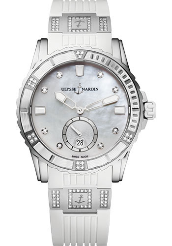 Ulysse Nardin Watches - Diver Lady 40mm - Stainless Steel - Style No: 3203-190-3C/10.10