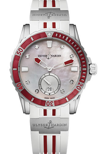Ulysse Nardin Watches - Diver Lady 40mm - Stainless Steel - Style No: 3203-190-3R/10.16