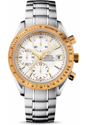 Omega Watches - Speedmaster Date Steel And Yellow Gold - Style No: 323.21.40.40.02.001
