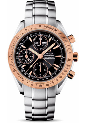 Omega Watches - Speedmaster Day-Date Steel And Red Gold - Style No: 323.21.40.44.01.001