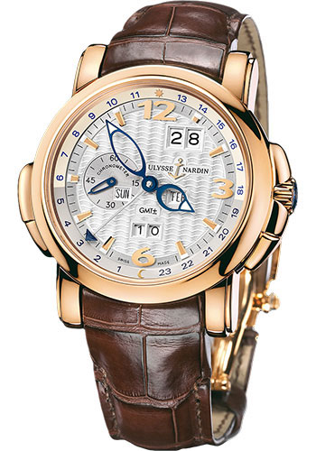 Ulysse Nardin Watches - GMT Perpetual 42 mm - Rose Gold - Leather Strap - Style No: 326-60/60