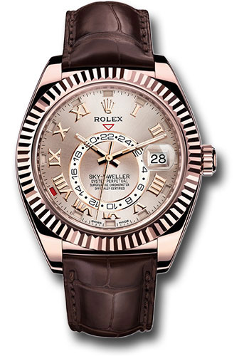 Rolex Watches - Sky-Dweller Everose Gold - Style No: 326135 su