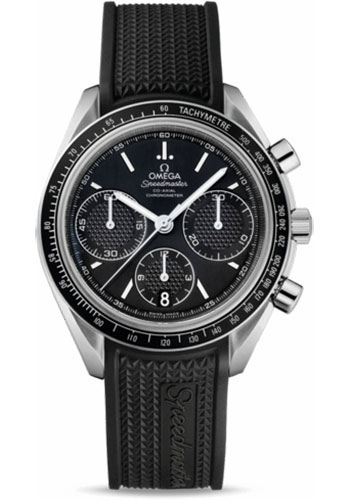 Omega Watches - Speedmaster Racing Co-Axial Chronograph 40 mm - Stainless Steel On Rubber - Style No: 326.32.40.50.01.001
