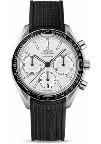 Omega Watches - Speedmaster Racing Co-Axial Chronograph 40 mm - Stainless Steel On Rubber - Style No: 326.32.40.50.02.001