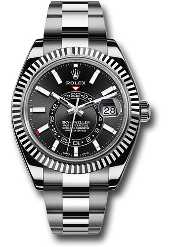 Rolex Watches - Sky-Dweller Stainless Steel and White Gold - Style No: 326934 bk