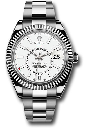 Rolex Sky Dweller Stainless Steel And White Gold Watches