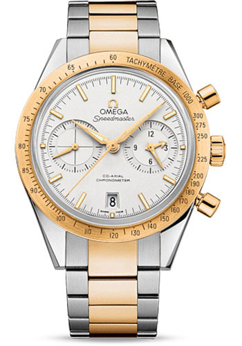 Omega Watches - Speedmaster 57 Omega Co-Axial Chronograph 41.5 mm - Steel And Yellow Gold - Style No: 331.20.42.51.02.001