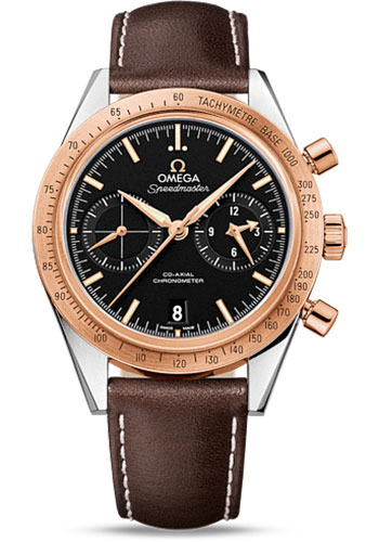 Omega Watches - Speedmaster 57 Omega Co-Axial Chronograph 41.5 mm - Steel And Red Gold - Style No: 331.22.42.51.01.001