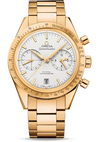 Omega Watches - Speedmaster 57 Omega Co-Axial Chronograph 41.5 mm - Yellow Gold - Style No: 331.50.42.51.02.001