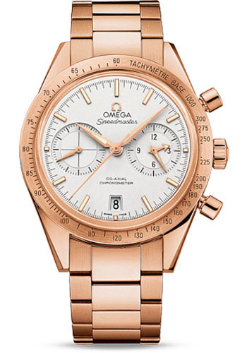 Omega Watches - Speedmaster 57 Omega Co-Axial Chronograph 41.5 mm - Red Gold - Style No: 331.50.42.51.02.002