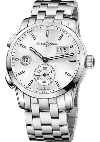 Ulysse Nardin Watches - Dual Time Manufacture Stainless Steel - Bracelet - Style No: 3343-126-7/91