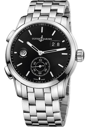 Ulysse Nardin Watches - Dual Time Manufacture Stainless Steel - Bracelet - Style No: 3343-126-7/92