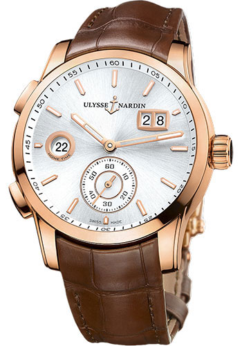 Ulysse Nardin Watches - Dual Time Manufacture Rose Gold - Leather Strap - Style No: 3346-126/91