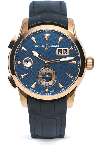 Ulysse Nardin Watches - Classico Dual Time - Rose Gold - Style No: 3346-126LE/93
