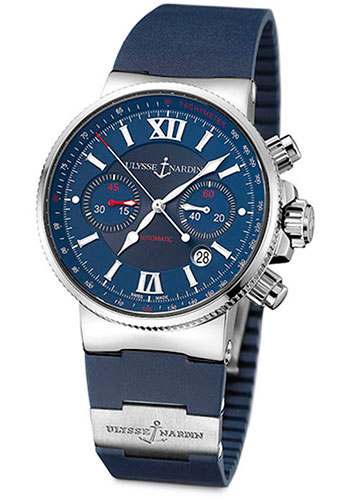 Ulysse Nardin Watches - Marine Diver Chronograph 41mm - Stainless Steel - Rubber Strap - Style No: 353-66-3/323