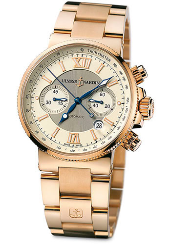 Ulysse Nardin Watches - Marine Diver Chronograph 41mm - Rose Gold - Bracelet - Style No: 356-66-8/354