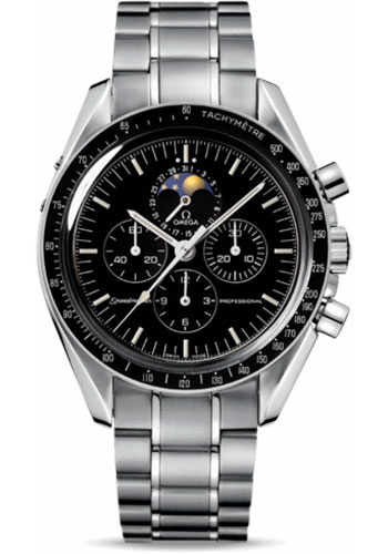 Omega Watches - Speedmaster Moonwatch Professional 42 mm - Stainless Steel - Transparent Back - Style No: 3576.50.00
