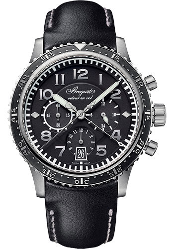 Breguet Watches - Type XX - XXI - XXII 3810 - Flyback Chronograph - Style No: 3810TI/H2/3ZU