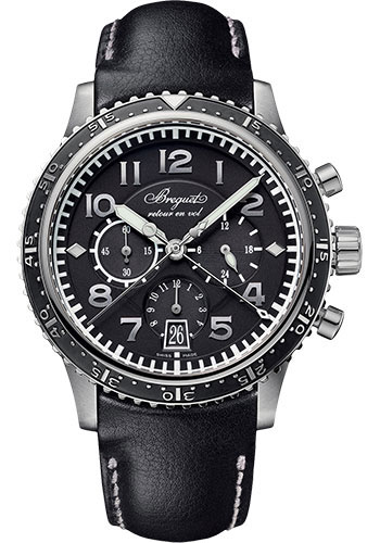 Breguet Watches - Type XX - XXI - XXII 3810 42mm - Titanium - Style No: 3810TI/H2/3ZU