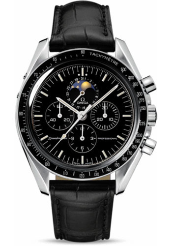 Omega Watches - Speedmaster Moonwatch Professional 42 mm - Stainless Steel - Transparent Back - Style No: 3876.50.31