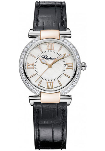 Chopard Watches - Imperiale Quartz 28mm Steel and Gold - Style No: 388541-6003