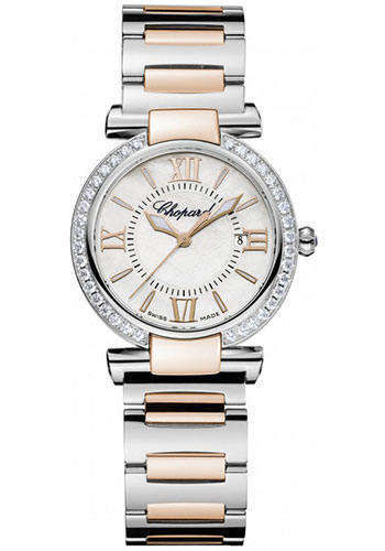 Chopard Watches - Imperiale Quartz 28mm Steel and Gold - Style No: 388541-6004