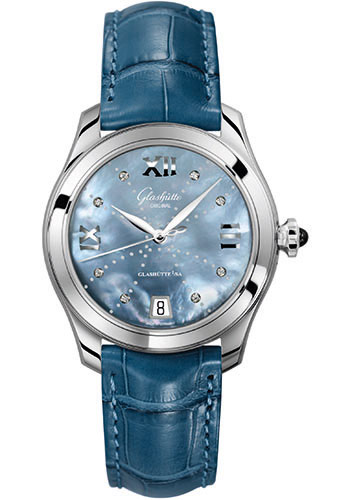 Glashutte Original Watches - Ladies Collection Serenade - Steel - Blue Mother of Pearl - Style No: 39-22-11-02-04