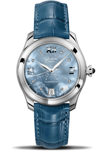 Glashutte Original Watches - Ladies Collection Serenade - Steel - Blue Mother of Pearl - Style No: 39-22-11-02-44