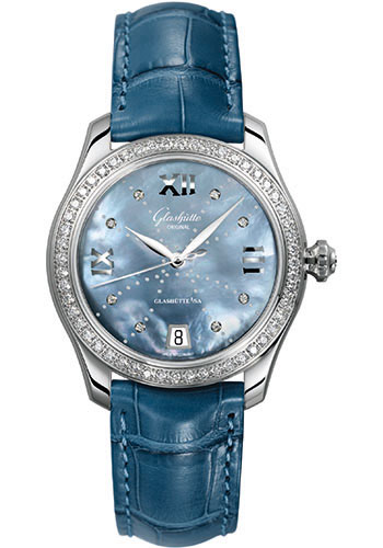 Glashutte Original Watches - Ladies Collection Serenade - Steel - Blue Mother of Pearl - Style No: 39-22-11-22-04