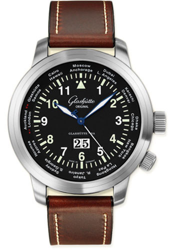 Glashutte Original Watches - 20th Century Vintage Senator Navigator Worldview - Style No: 39-47-07-07-04