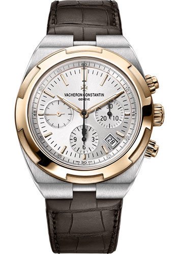 Vacheron Constantin Watches - Overseas Chronograph - Steel and Pink Gold - Style No: 5500V/000M-B074
