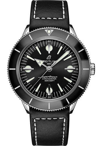 Breitling Watches - Superocean Heritage 57 Stainless Steel - Leather Strap - Folding Buckle - Style No: A10370121B1X2