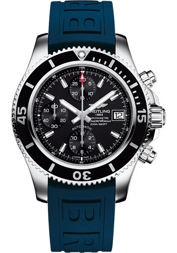 Breitling Watches - Superocean Chronograph 42 Diver Pro III Strap - Tang Buckle - Style No: A13311C9/BF98/148S/A18S.1