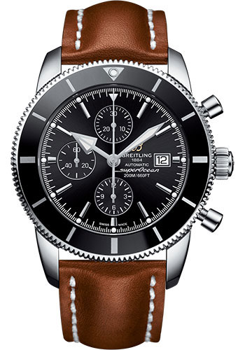 Breitling Watches - Superocean Heritage II Chronograph 46mm - Stainless Steel - Leather Strap - Deployant - Style No: A1331212/BF78/440X/A20D.1