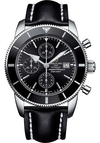 Breitling Watches - Superocean Heritage II Chronograph 46mm - Stainless Steel - Leather Strap - Deployant - Style No: A1331212/BF78/442X/A20D.1
