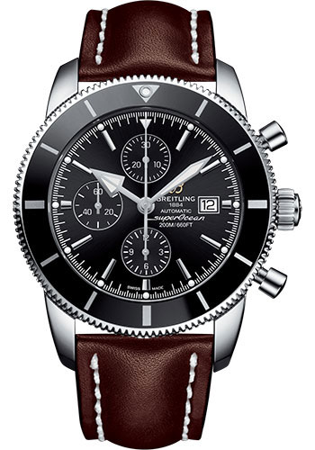 Breitling Watches - Superocean Heritage II Chronograph 46mm - Stainless Steel - Leather Strap - Tang - Style No: A1331212/BF78/443X/A20BA.1
