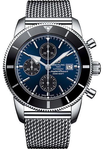 Breitling Watches - Superocean Heritage II Chronograph 46mm - Stainless Steel - Ocean Classic Bracelet - Style No: A1331212/C968/152A