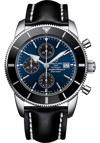 Breitling Watches - Superocean Heritage II Chronograph 46mm - Stainless Steel - Leather Strap - Deployant - Style No: A1331212/C968/442X/A20D.1