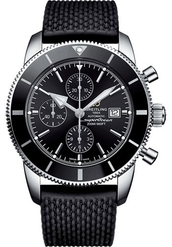 Breitling Watches - Superocean Heritage II Chronograph 46mm - Stainless Steel - Rubber Aero Classic Strap - Style No: A13312121B1S1