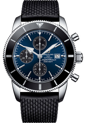 Breitling Watches - Superocean Heritage II Chronograph 46mm - Stainless Steel - Rubber Aero Classic Strap - Style No: A13312121C1S1