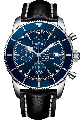 Breitling Watches - Superocean Heritage II Chronograph 46mm - Stainless Steel - Leather Strap - Deployant - Style No: A1331216/C963/442X/A20D.1