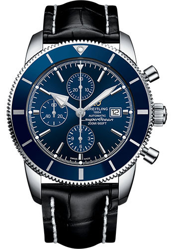 Breitling Watches - Superocean Heritage II Chronograph 46mm - Stainless Steel - Croco Strap - Deployant - Style No: A1331216/C963/761P/A20D.1