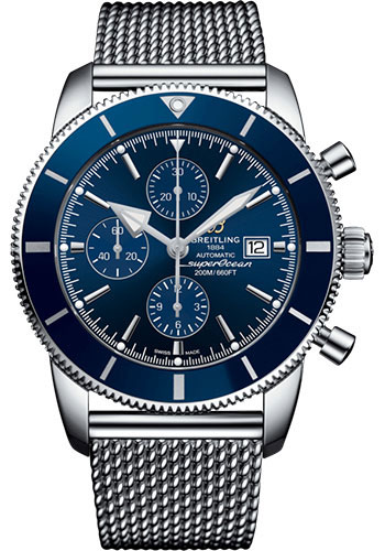 Breitling Watches - Superocean Heritage II Chronograph 46mm - Stainless Steel - Aero Classic Bracelet - Style No: A13312161C1A1