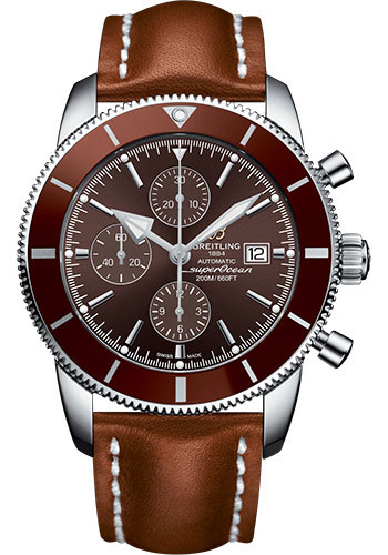 Breitling Watches - Superocean Heritage II Chronograph 46mm - Stainless Steel - Leather Strap - Deployant - Style No: A1331233/Q616/440X/A20D.1