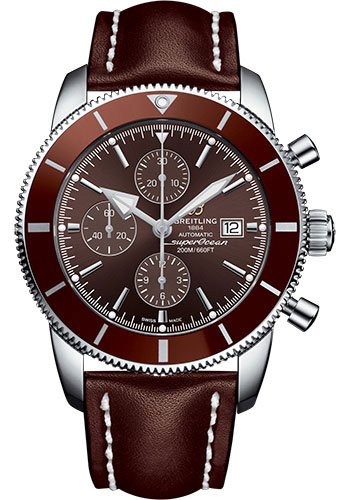 Breitling Watches - Superocean Heritage II Chronograph 46mm - Stainless Steel - Leather Strap - Tang - Style No: A1331233/Q616/443X/A20BA.1