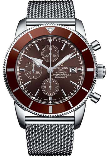 Breitling Watches - Superocean Heritage II Chronograph 46mm - Stainless Steel - Aero Classic Bracelet - Style No: A13312331Q1A1