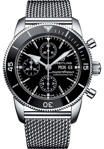 Breitling Watches - Superocean Heritage II Chronograph 44mm - Stainless Steel - Aero Classic Bracelet - Style No: A13313121B1A1