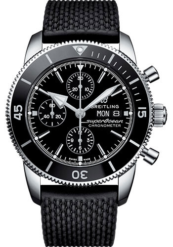 Breitling Watches - Superocean Heritage II Chronograph 44mm - Stainless Steel - Rubber Aero Classic Strap - Style No: A13313121B1S1