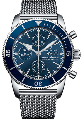 Breitling Watches - Superocean Heritage II Chronograph 44mm - Stainless Steel - Aero Classic Bracelet - Style No: A13313161C1A1